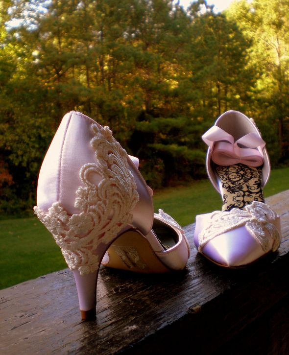 pink champagne shoes wanted floral and lace ok too wedding gold pink