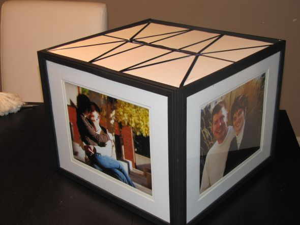 Photo Frame Card Box wedding card box engagement photos picture frame diy