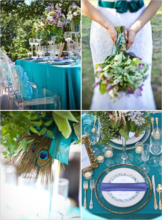 peacock wedding themes