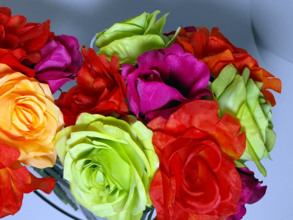 Belinda Looking for Fuschia Orange lime green Teal Decor wedding