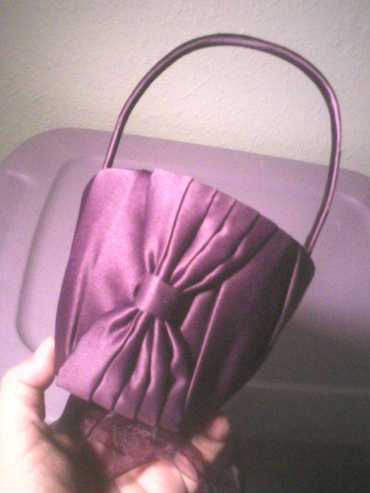 Dark Purple Plum Wedding Accesories wedding purple plum flower girl basket