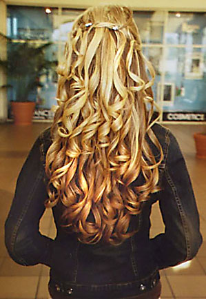 curly wedding hair half updos