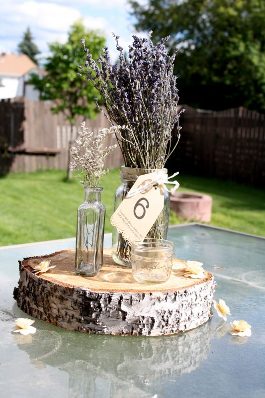 My centerpieces for my upcoming wedding I am having a rustic themed wedding