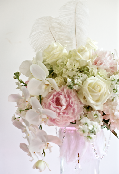 DIY Centerpieces~Beautiful, vintage, romantic w/ peonies, orchids, roses...