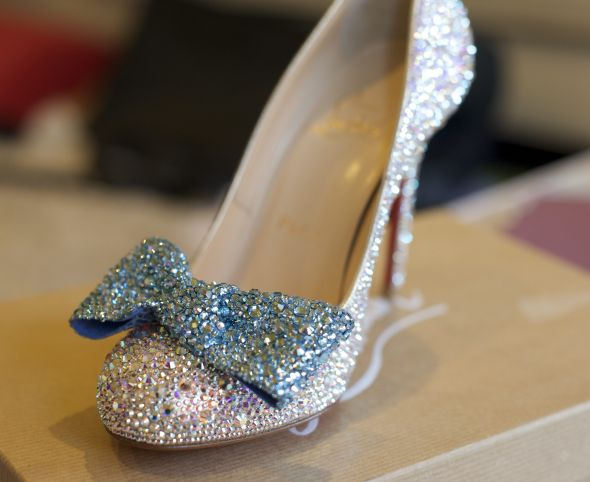 Christian Louboutin Fifi Strass! I strassed my own Christian Louboutin Heels!!!