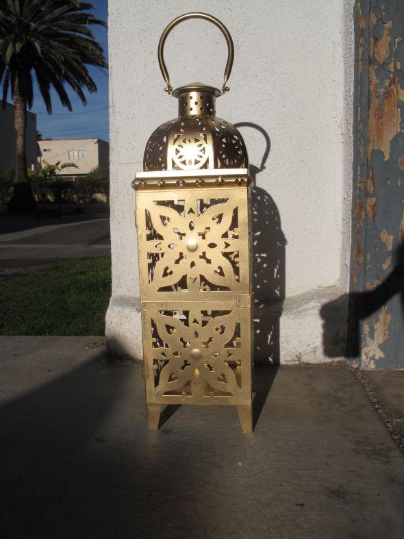 7 Gold Moroccan Style Lanterns Wedding Centerpiece wedding lantern