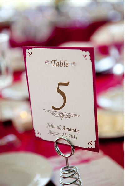 Table Numbers :  wedding numbers pink reception rhinestone table table numbers with rhinestone white Table Number
