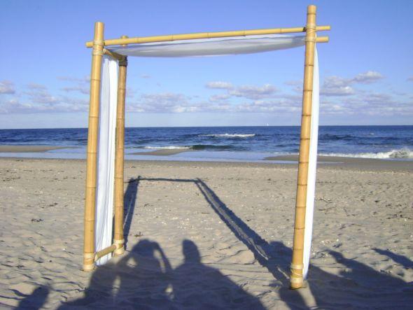 Bamboo Wedding Arch for Beach Ceremony wedding bamboo wedding arch diy
