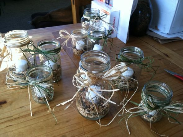 Rustic Mason Jar Centerpieces wedding mason jars rustic centerpieces diy