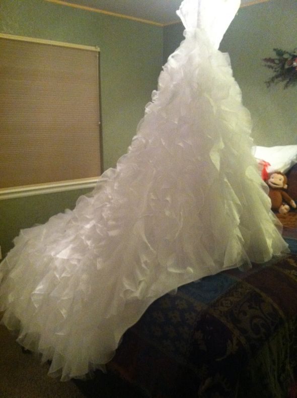 I washed my gorgeous gown in the washing machine for Where to get my wedding dress cleaned