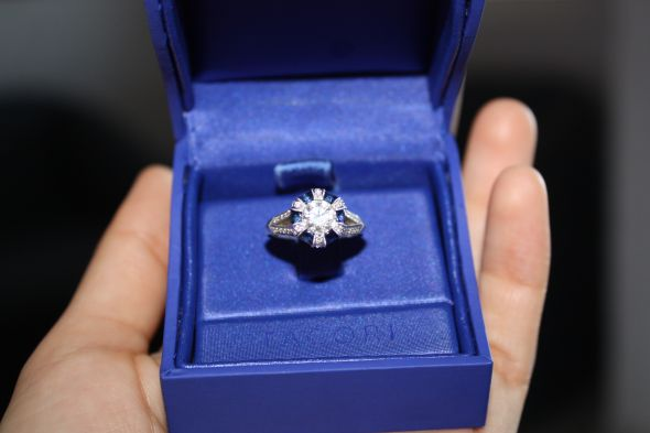 wedding sapphire engagement ring white blue halo IMG