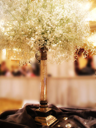 Need help with centerpieces for gray and pink wedding