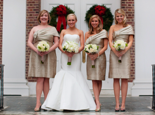 What Color Heels W Champagne Bridesmaid Dress For Our Cly Nautical Wedding