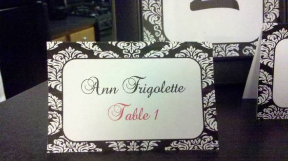 Damask Placecard