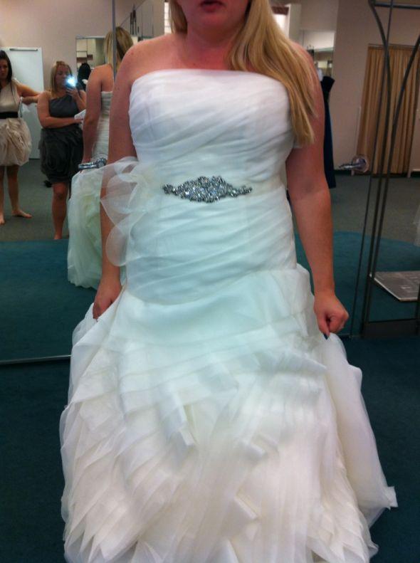 Sash/Belt Options with Vera Wang White Dress