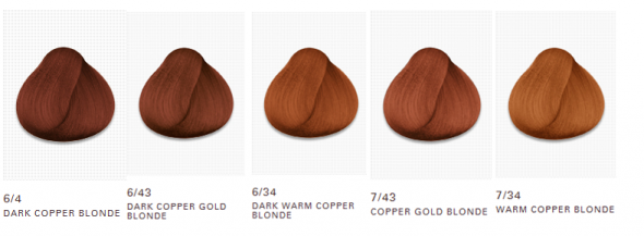 Dark copper gold blonde' is the closest to to my current hair ...