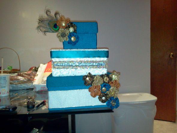 My DIY Card Box wedding card box diy presents diy flowers teal orange