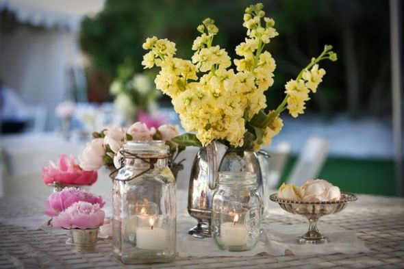 Centerpiece Ideas Anyone Pic Inside wedding centerpieces Mason Jar