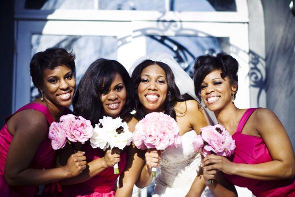 Beautiful Pink Brown Wedding Decor wedding brown pink bouquet flowers