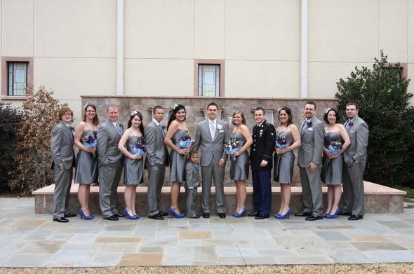 What shoes with gray bridesmaid dresses