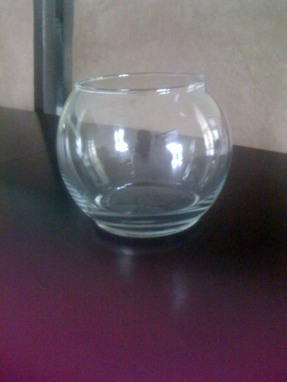Glass bubble ball vase vases sale for Bubbles in fish bowl