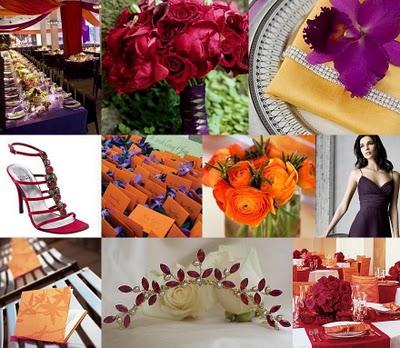 Red orange and purple weddingwhat do you think wedding orange