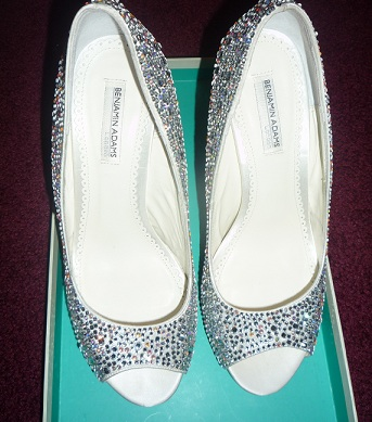 Silver wedding shoes with lots of Bling wedding silver wedding shoes with