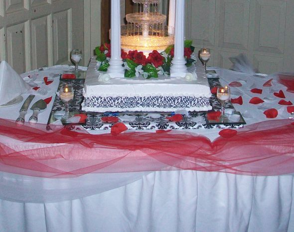 Table settings wedding black pink gray 100 1513