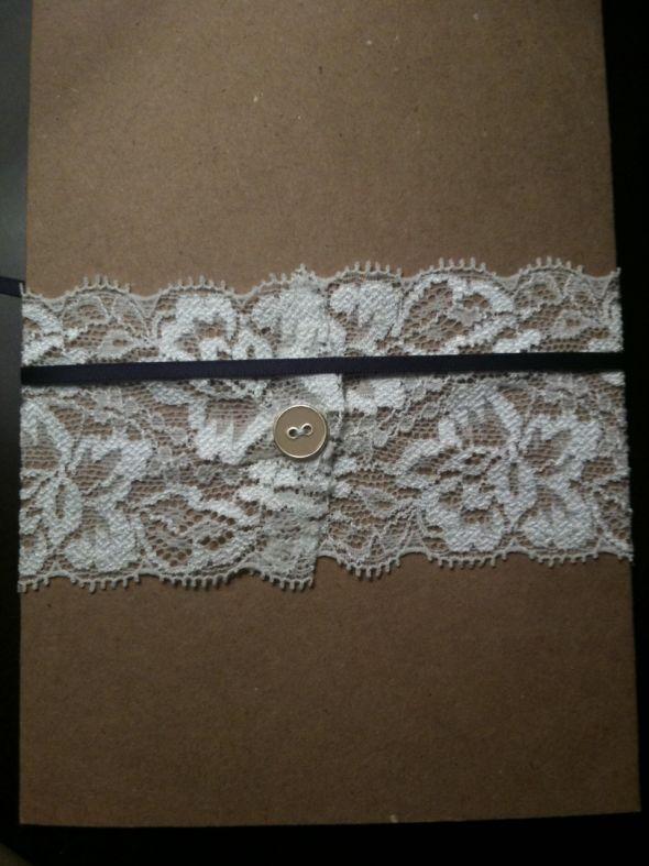 Our DIY Lace Wedding Invitations wedding lace eggplant plum cartoon belly