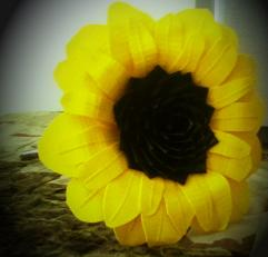Duck tape sunflower :  wedding diy duck tape flower flowers sunflower yellow Sunflower