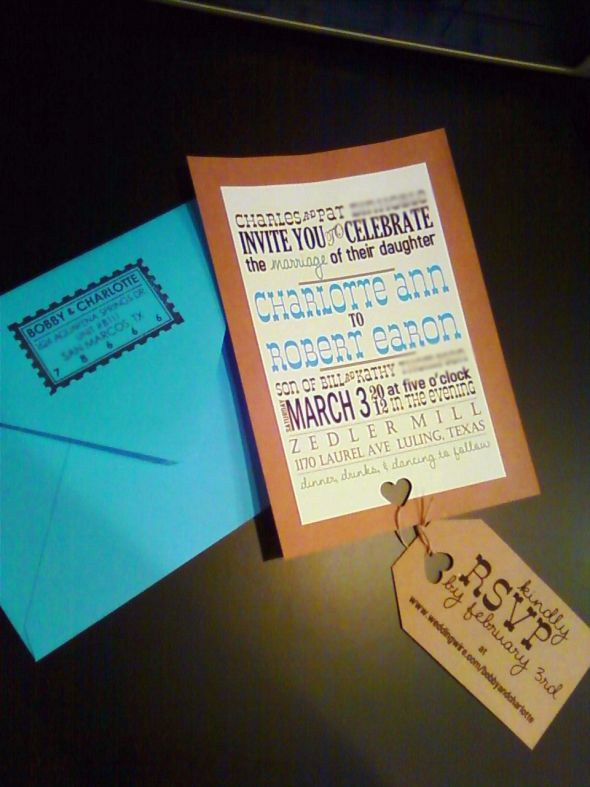 "DIY ""Rustic"" Invitations... finished!"