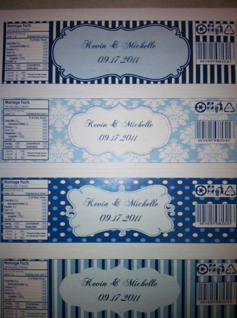 Finalized Water Bottle Labels Weddingbee Photo Gallery