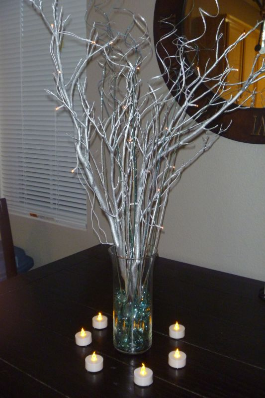 My'under 10' DIY manzanita centerpieces wedding Centerpiece1 005