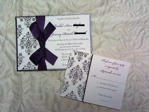 Invitation Suite for sale wedding invitations custom damask design