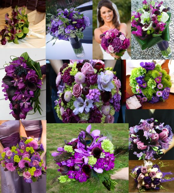 Opinions wanted on April wedding colors wedding Purple And Green Bridal