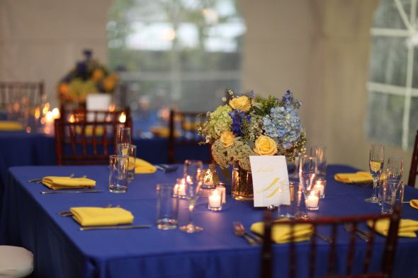 Wedding Decorations Royal Floids Blog Our Colors Were Blue And Yellow I Am A Osu