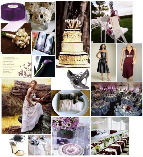 wedding Purple Gray Burgundy Wedding How about these