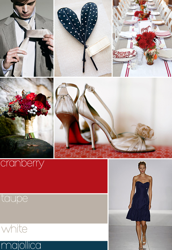 I need help picking a theme wedding Southern Weddings Magazine Palette Red