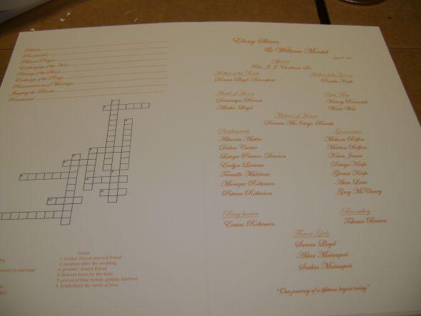 DIY Fan Program wedding fan programs orange ivory ceremony diy DSC02761