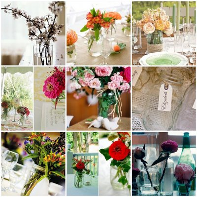Mason Jar Centerpieces wedding Mosaic9369579 Sorry so many pics