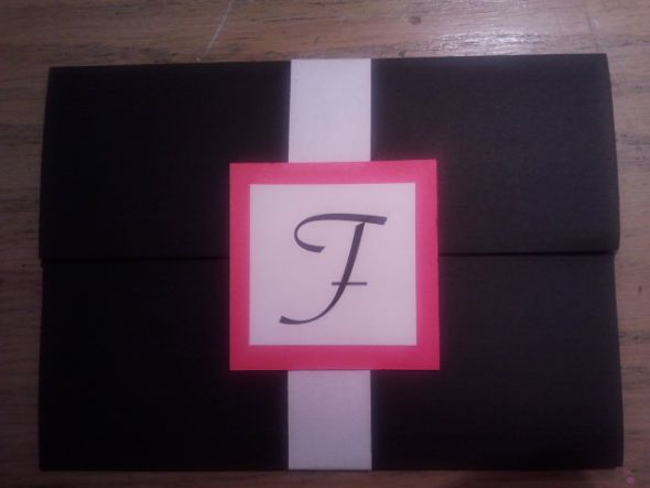 DIY black and pink invitations! What do you think?
