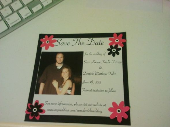 My DIY save the dates! I love them!!!