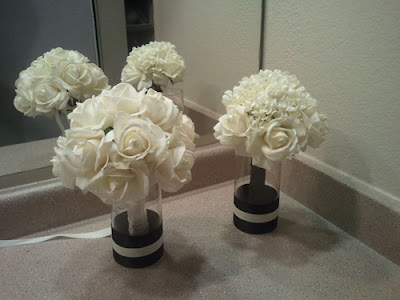 Tons of wedding decor Glamorous Black Ivory Gold items wedding