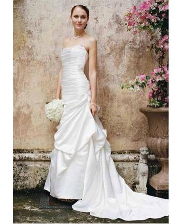 Davids Bridal Dress WG9828 – poofy skirt or slim?
