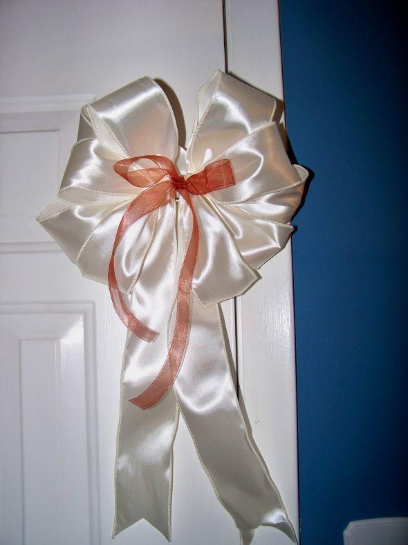 DIY Pew Bow wedding aisle pew bow bows pew bow pew bows ivory cognac