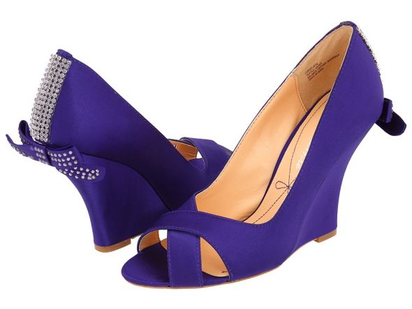 Purple Bling Wedding Shoes Purple Wedge Wedding Shoes