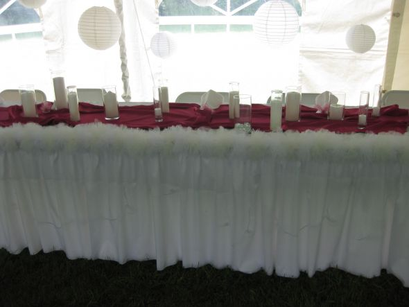 wedding centerpieces paper lanterns azalea table toppers tons of candles