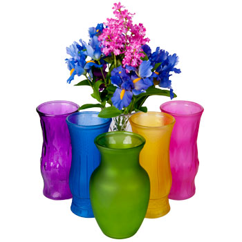 Colored Vases At Dollar Store