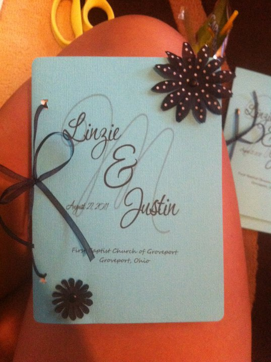 DIY Wedding Ceremony programs by Weddingbee