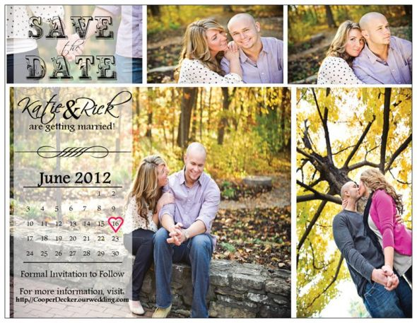 My Vistaprint Postcard Save the Dates!!